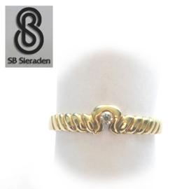 14krt  gouden ring met ZIRCONIA