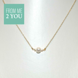Ketting met ZOETWATER PARELTJES - From Me To You - Goldfilled-14k