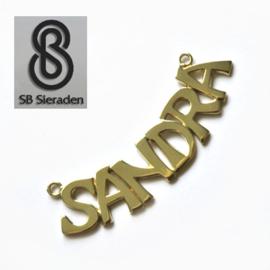 14krt gouden Naamhanger - gladde letters
