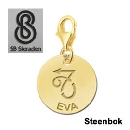 Karabijnslot - BEDEL-Sterrenbeeld- 14 krt goud