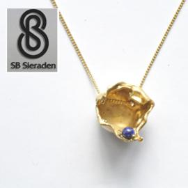 14krt gouden MODERNE hanger met collier