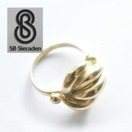 """14krt gouden dames ring met  sierlijke """"knoop"""""""