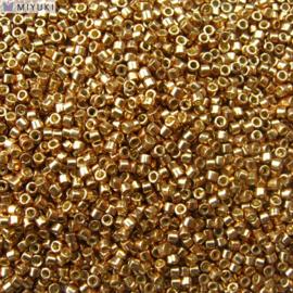 Miyuki Delica's DB1834 - Duracoat Galvanized Gold /Champagne