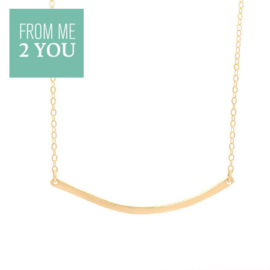Ketting met glimmend BOOGJE - From Me To You - Goldfilled-14k