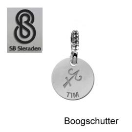 SCHUIFBEDEL-Sterrenbeeld- ECHT Zilver 925
