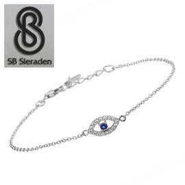 Fijne armband - met Alziend oog - Echt Zilver 925