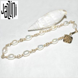 Goldfilled   Armband  - met Zoetwaterparels