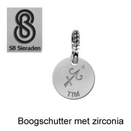 SCHUIFBEDEL-Sterrenbeeld met zirconia - ECHT Zilver 925