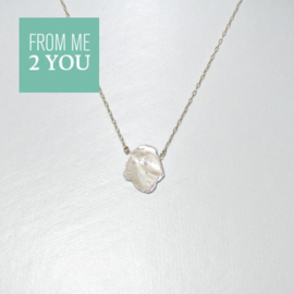 Ketting met WILDE PAREL - From Me To You - Goldfilled-14k