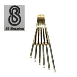 14krt gouden FANTASIE MODEL hanger - Spijltjes