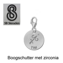 Karabijn BEDEL met zirconia -Sterrenbeeld- ECHT Zilver 925