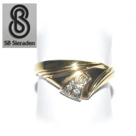 14krt  geel gouden ring met DIAMANT
