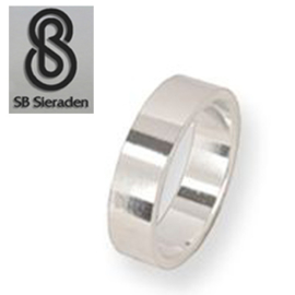 Gladde zilveren ring 6mm