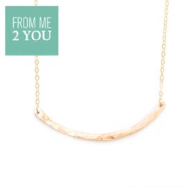 Ketting met gehamerd BOOGJE - From Me To You - Goldfilled-14k