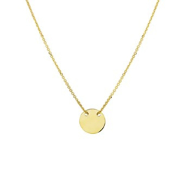 Ketting met klein rond plaatje - From Me To You - Goldfilled-14k