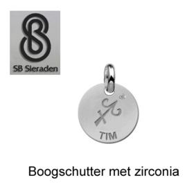 BEDEL-Sterrenbeeld met zirconia- ECHT Zilver 925