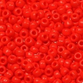 Miyuki Rocailles 8/0 Opaque vermilion red  0407