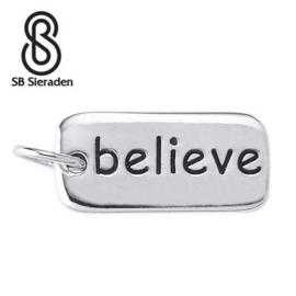 BELIEVE bedel - 925 Zilver