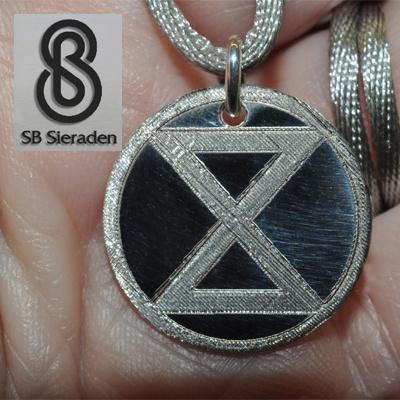 XR symbool - graveerplaatje -