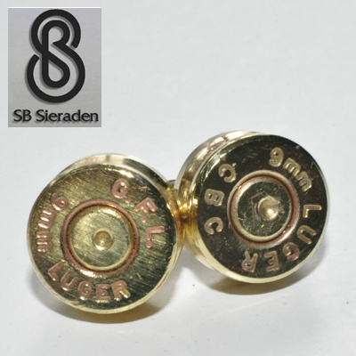 Bullet Oorknopjes - 9mm huls