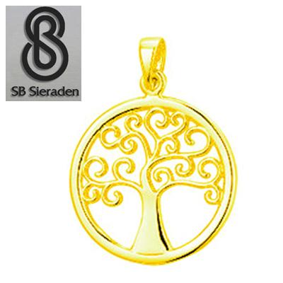 14krt gouden TREE of LIFE hanger 20mm