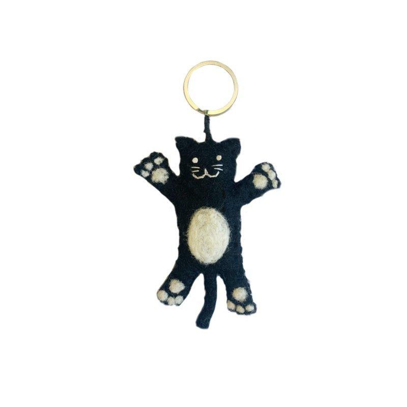 Keyring kat zwart
