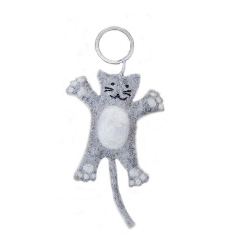 Keyring kat l-grijs