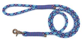 Hondenlijn touw (Licht roze-Blauw-Mint-Zwart)