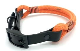 Halsband touw met biothane (oranje)