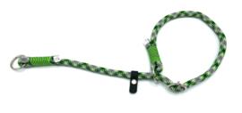 Sliphalsband  (donkergroen-neon groen-neongeel-zwart)