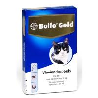 Bolfo gold vlooiendruppels kat vanaf 4 kilo