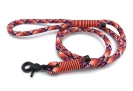 Hondenlijn touw (Licht roze-Roze-Oranje-Rood-Zwart))