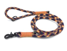 Hondenlijn touw (Zwart-Geel-Rood)