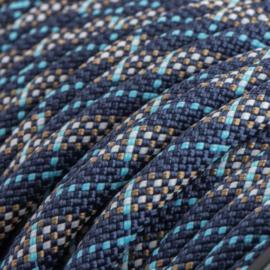 Sliphalsband  (Donker blauw-Turquoise-Bruin)
