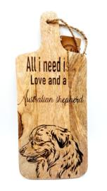 Tapasplank Australian shepherd
