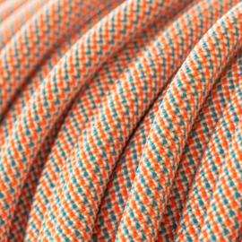 Halsband touw met biothane (Oranje-Teal)