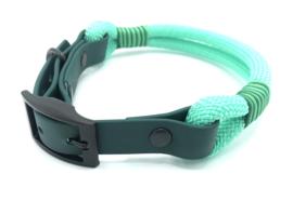 Halsband touw met biothane (mint)