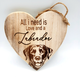 Houten hart Labrador