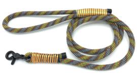Hondenlijn touw (Geel-Oranje-Zwart-Wit)