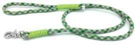 Hondenlijn touw (groen-geel-donker groen)
