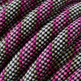 Sliphalsband  (Licht roze-Roze-Licht bruin-Zwart)
