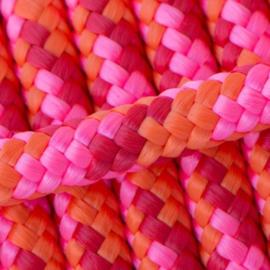 Hondenlijn touw (Roze-Oranje-Rood))