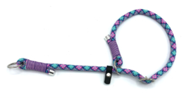 Sliphalsband  (roze-paars-turquoise-teal-mint)