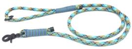 Hondenlijn touw (Turquoise-Mint-Midden bruin-Zwart)