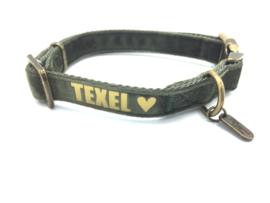 Halsband velvet (met Texel bedrukt)