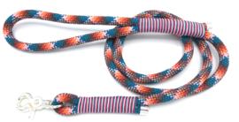 Hondenlijn touw (Teal-Rood-Oranje-Bruin-Licht roze)