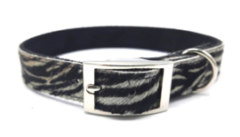 Zebra halsband leer