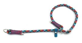 Sliphalsband  (zwart-turquoise-teal-roze)