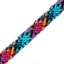 Hondenlijn touw (Roze-Turquoise-Teal-Zwart)