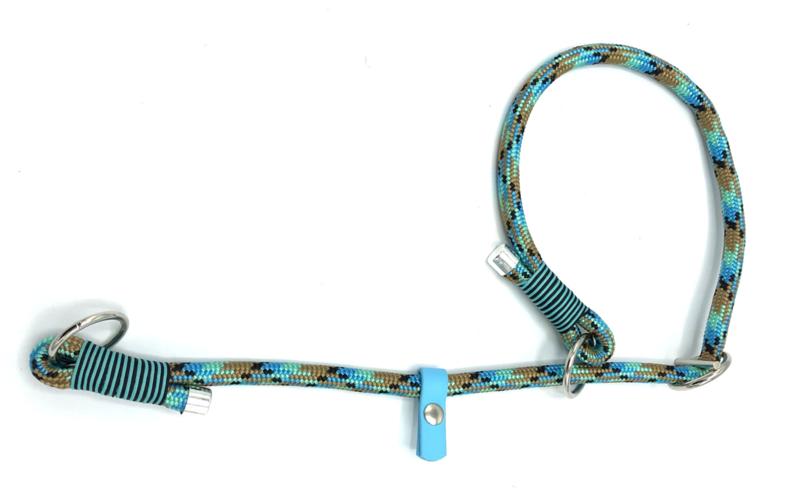 Sliphalsband (Zwart-Lichtbruin-Turquoise-Mint)